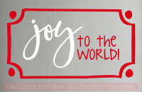Joy to the World Wall Lettering Art Wall Decal Holiday Stickers Quote
