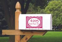 Mailbox Decals personalized with Address Chevron Stripe Frame