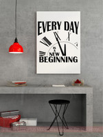 Every Day is a new Beginning Inspirational Quotes Vinyl Wall Decals Sticker- Black