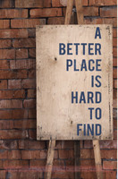 A Better Place Is Hard To Find Inspirational Vinyl Lettering Wall Decal Stickers- Deep Blue