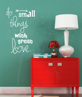 Do Small Things With Love Quotes Wall Decals Stickers Motivational Home Decor-White