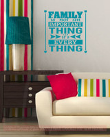Family Is Everything Home Decor Vinyl Lettering Family Wall Decals Quote-Teal