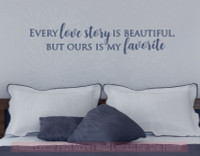 My Favorite Love Story Home Decor Vinyl Lettering Wall Stickers Quotes for Bedroom Decor Deep Blue