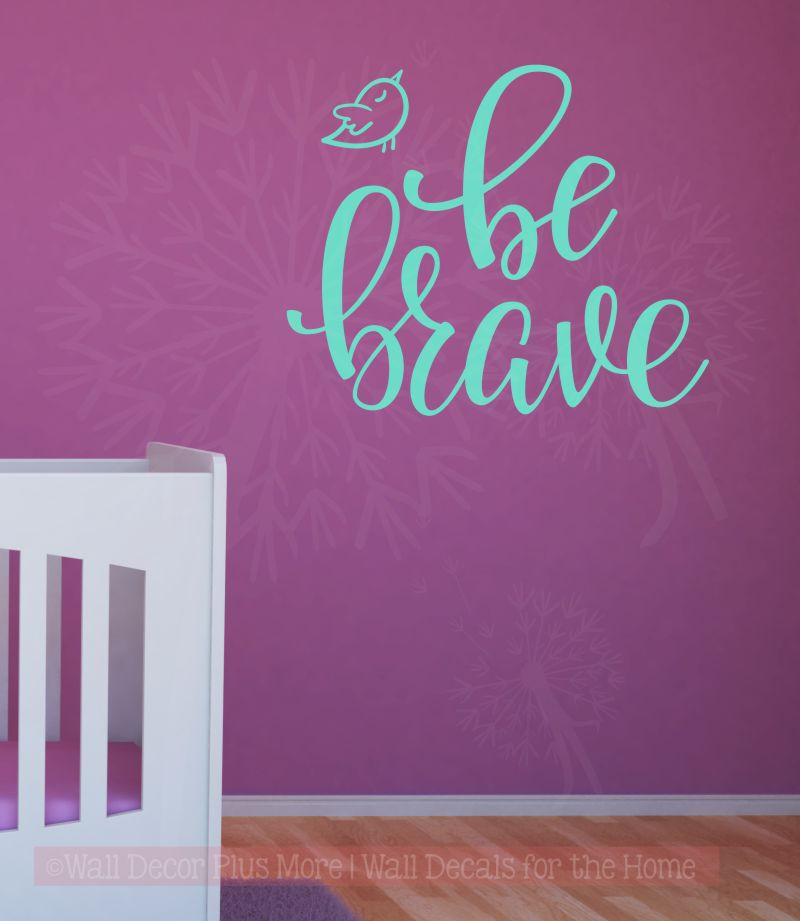 From Seword Wall Art Vinyl Lettering Home Decor ~ Be brave with bird vinyl lettering wall decal art