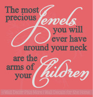 Children Are Precious Jewels Family Wall Decals Vinyl Lettering Art Home Decor Stickers