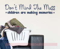 Children Making Memories Mess Vinyl Lettering Quote Family Wall Decals Sticker Home Decor Deep Blue