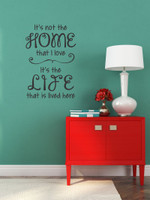 Love the Home Life Lived Here Family Wall Decals Quote Vinyl Stickers Home Decor Black