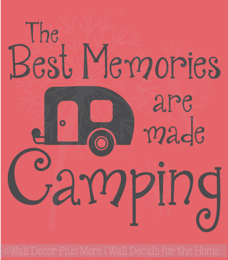 Best Memories Made Camping Quotes Vinyl Lettering Art Wall Sticker Decals Summer Décor