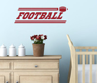 Football Boys Wall Stickers Vinyl Lettering Art Sports Decals Bedroom Decor-Red