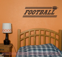 Football Boys Wall Stickers Vinyl Lettering Art Sports Decals Bedroom Decor-Chocolate Brown