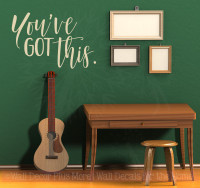 You've Got This Inspirational Wall Art Stickers Vinyl Lettering Decals Home Decor Quote-Beige