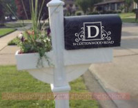 Decorative And Custom Text Mailbox Decals - Custom vinyl decals for mailbox