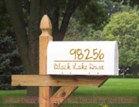 Mailbox Address Stickers Personalized Custom Decorative Vinyl Decals