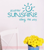 Scatter Sunshine Along the Way Inspirational Wall Art Decals Vinyl Lettering Stickers Home Decor Quote-Teal