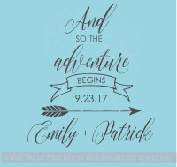 The Adventure Begins Personalized Vinyl Lettering Art Wall Sticker Decals Wedding Gift Home Decor