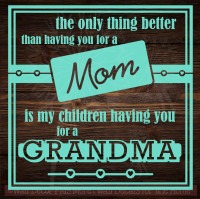 You As My Mom, Grandma To My Children Wall Stickers Vinyl Decals Lettering Quote Mother's Day Gift-Mint Green