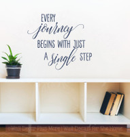 Every Journey Begins With A Single Step Inspirational Wall Decals Vinyl Lettering Art Home Decor Quote-Deep Blue