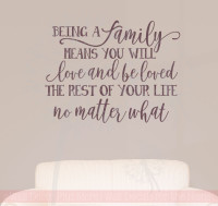 Family's Love Rest of Your Life Family Wall Stickers Vinyl Lettering Decals Home Decor Quote-Eggplant
