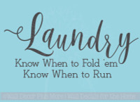 Laundry, Fold or Run Wall Stickers Decals Vinyl Lettering Art Home Decor Quote