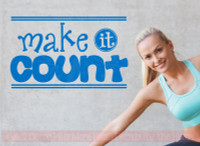 Make It Count Motivational Wall Stickers Vinyl Lettering Decals Quote-Traffic Blue