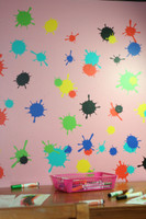 mud splatter splotch wall art decal stickers kids room or playroom decor Multiple Sheets shown