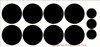 Polka Dot Wall Vinyl Stickers 5-Inch Size
