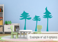 Pine Tree Wall Stickers Bedroom Art Vinyl Decals Large Wall Stickers-Teal