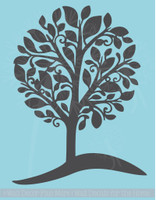 Tree on a Hill Wall Decals Vinyl Stickers Large Tree Art