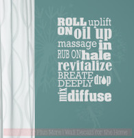 Roll On Uses Oil Subway Art Vinyl Lettering Stickers Healthy Quote-Light Gray