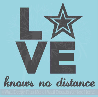 Love Knows No Distance Army Wall Art Quote Vinyl Letters for Home Decor