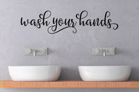 wash your hands bathroom wall decals quotes vinyl lettering