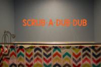 Scrub A Dub Dub Wall Decals Vinyl Fun Bathroom Decals Wall Decor Quotes-Orange