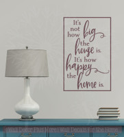 How Happy the Home Is Wall Decals Vinyl Lettering Family Home Decor-Eggplant