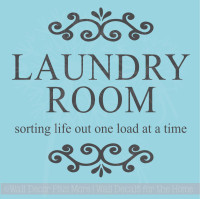Laundry Sorting Life One Load Laundry Room Wall Stickers Vinyl Decals