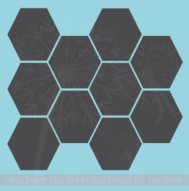 Hexagon Wall Stickers Shapes Vinyl Decals Honeycomb Art Décor 7inch