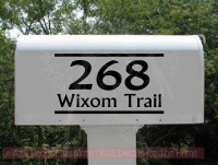 Street Address Mailbox Decals Vinyl Letters Custom Stickers-Black