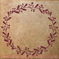 Laurel Floral Wreath 7 Options Wall Decals Vinyl Art Stickers Home Decor-Option 7