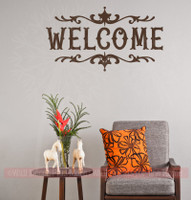 Welcome Home Vinyl Lettering Decals Wall Sticker Art Best Modern Decor-Chocolate