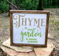 Thyme In Garden Never Wasted Farmhouse Decor Vinyl Decal Wall Stickers-Tumbleweed, Lime Green