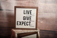 Give More Quote on Framed Wood Sign for Wall Art Home Decor