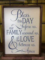 Bless This Day Family Love Kitchen Wall Decals Vinyl Lettering Stickers Deep Blue