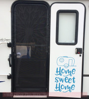 Camper Home Sweet Home Vinyl Letters Stickers RV Wall Quote Decals  Bayou Blue