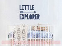 Little Explorer with Arrow Nursery Wall Stickers Vinyl Art Baby Decor-Deep Blue