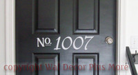 door house number sticker vinyl decal fast affordable