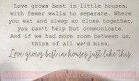 Loves Grows Best Little Houses Kitchen Wall Decals Vinyl Lettering Quotes-Chocolate