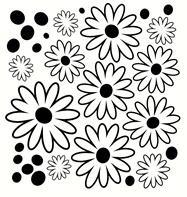 Flower Dot Floral Wall Decal Girls Room Decor Vinyl Decal