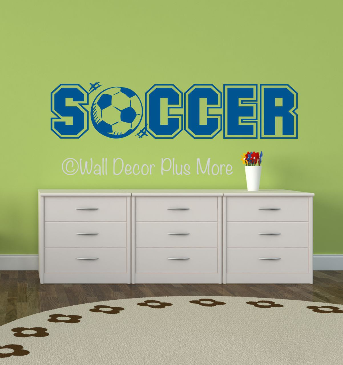 Soccer lettering with sports ball wall art vinyl sticker decals soccer sports wall decals stickers for boys cool room decor loading zoom amipublicfo Images