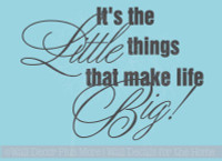Inspiring Wall Decals Quote Vinyl Stickers Garden Spring Little Things Big