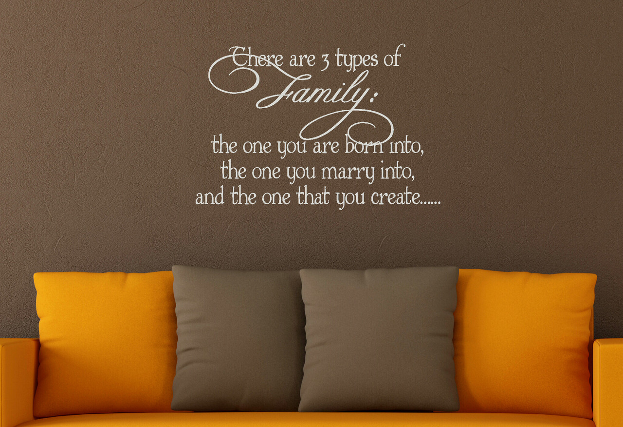 3 types of family vinyl wall sticker decals quote wall letters for 3 types of family wall decal quote great for wall decor gifts and more loading zoom amipublicfo Choice Image