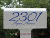 Personalized Mailbox Glossy Decal with Address; Made with Glossy Outdoor Vinyl